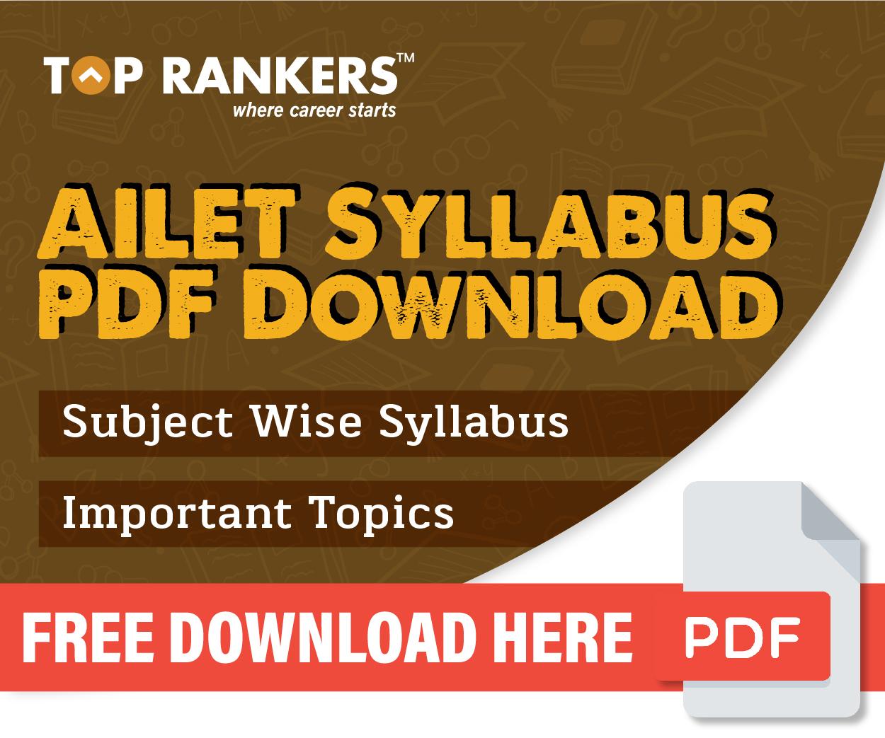 AILET Syllabus