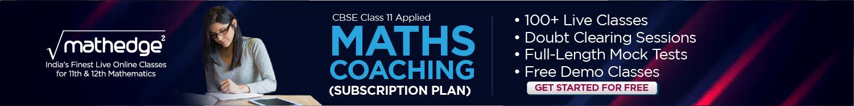 CBSE Class 11 Applied Maths