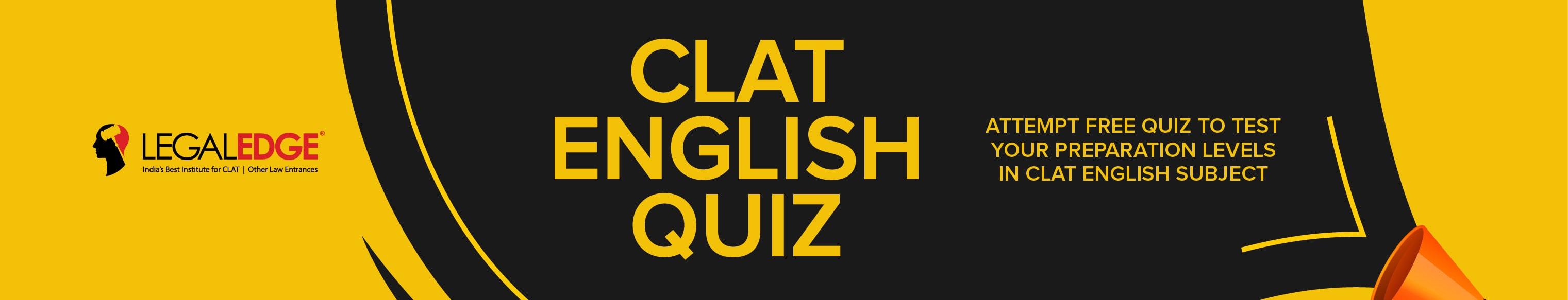 clat English Quiz