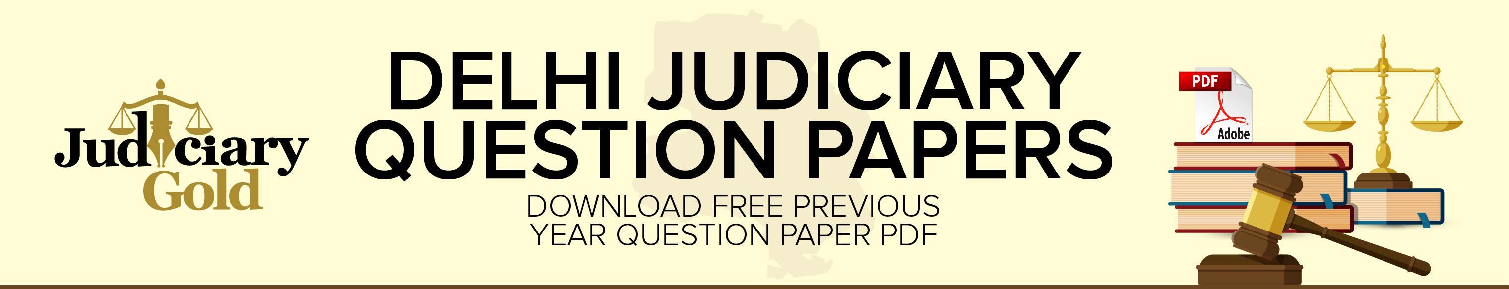 delhi judiciary question papers