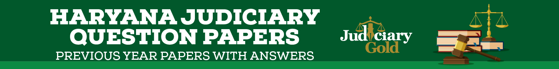 Haryana Judiciary Question Paper