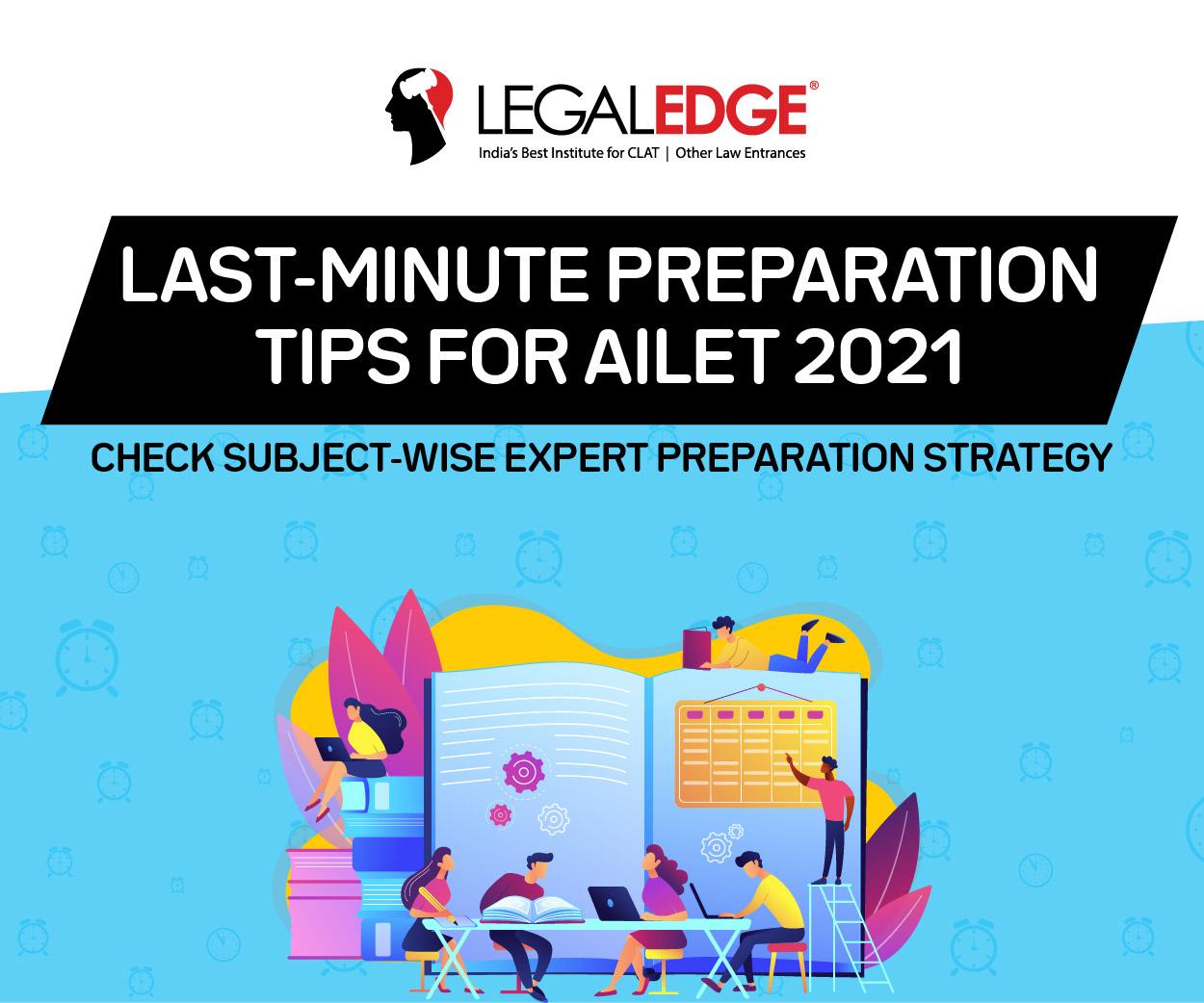 AILET Last Minute Preparation Tips