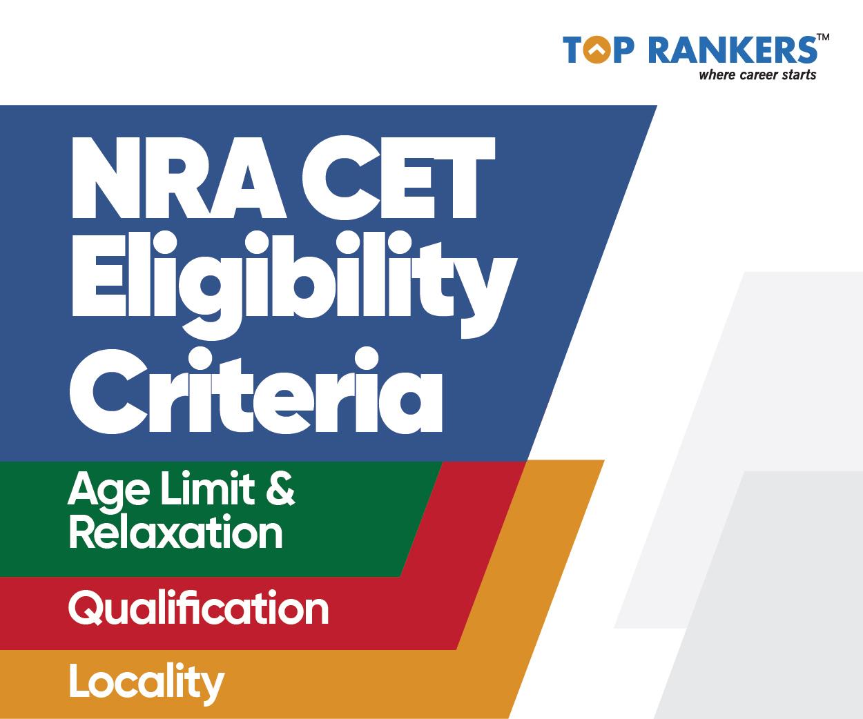 NRA CET Eligibility