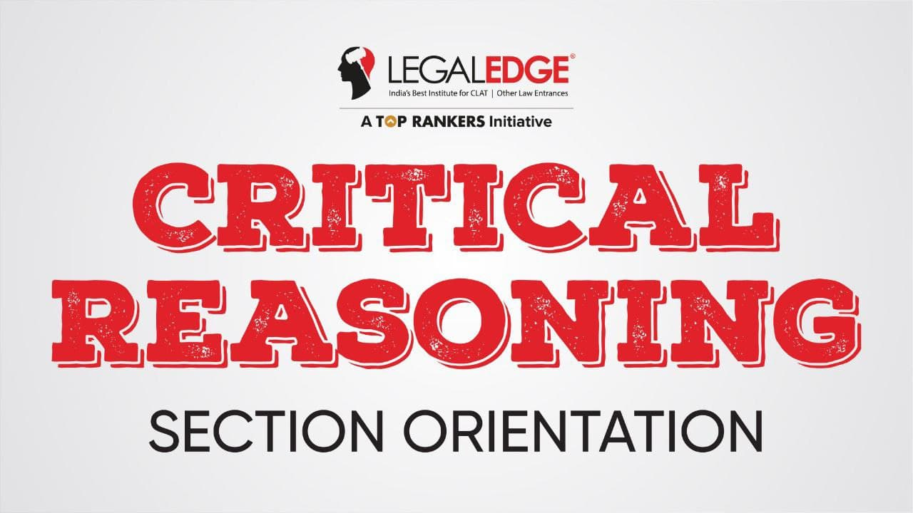 Section Orientation | Critical Reasoning