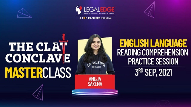 Reading Comprehension Practice Session   By Anuja maám