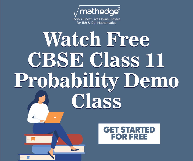 CBSE Class 11 Applied Maths Probability