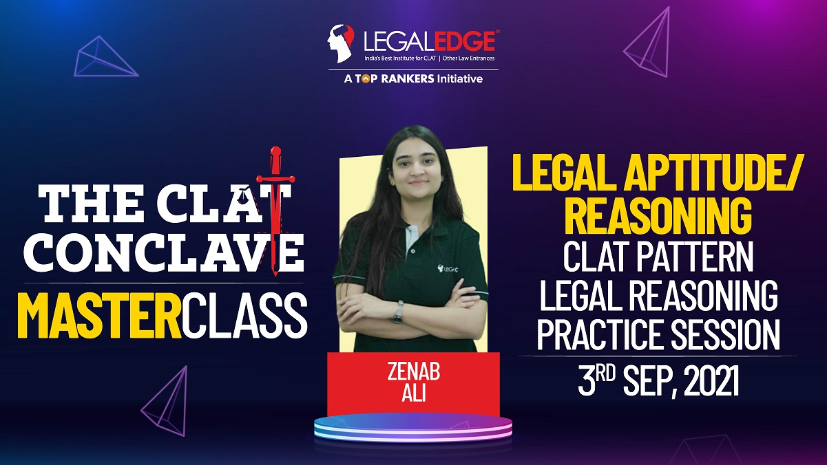 CLAT Pattern Legal Reasoning Practice Session |  By Zenab Maám