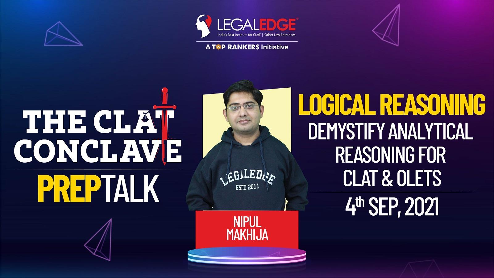 Demystify Analytical Reasoning for CLAT & OLETs   By Nipul Sir