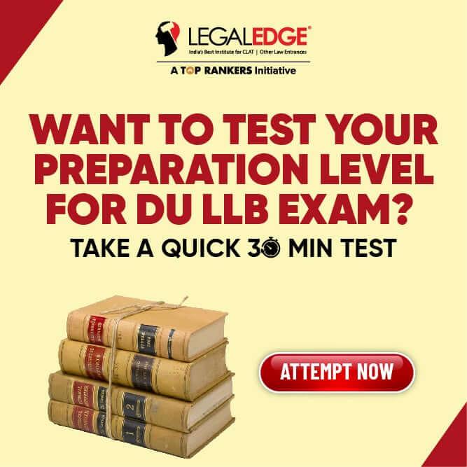 DU LLB mock test