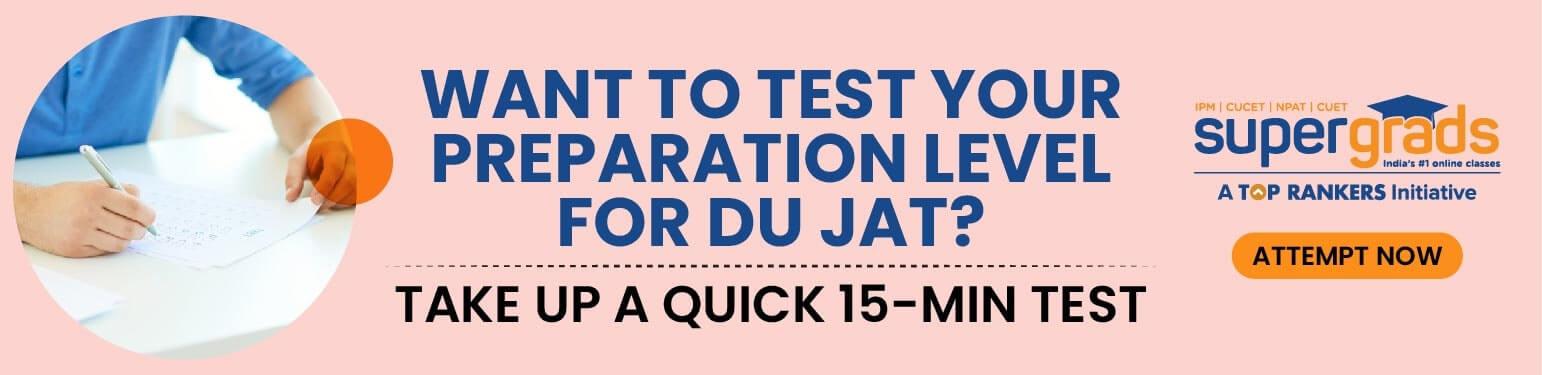 DU JAT mock test