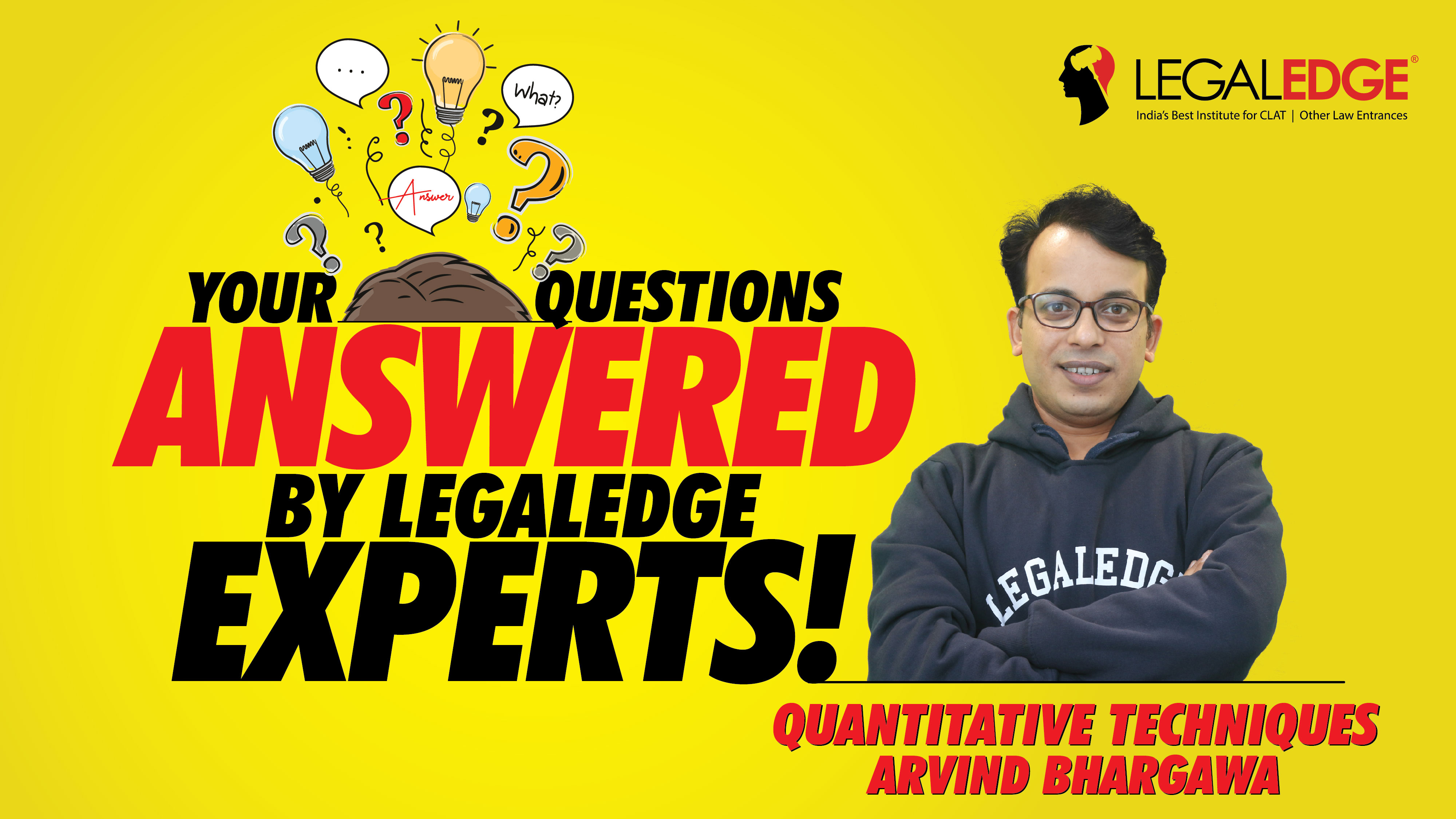 Your Questions Answered ! | Quantitative Techniques | by Arvind Sir