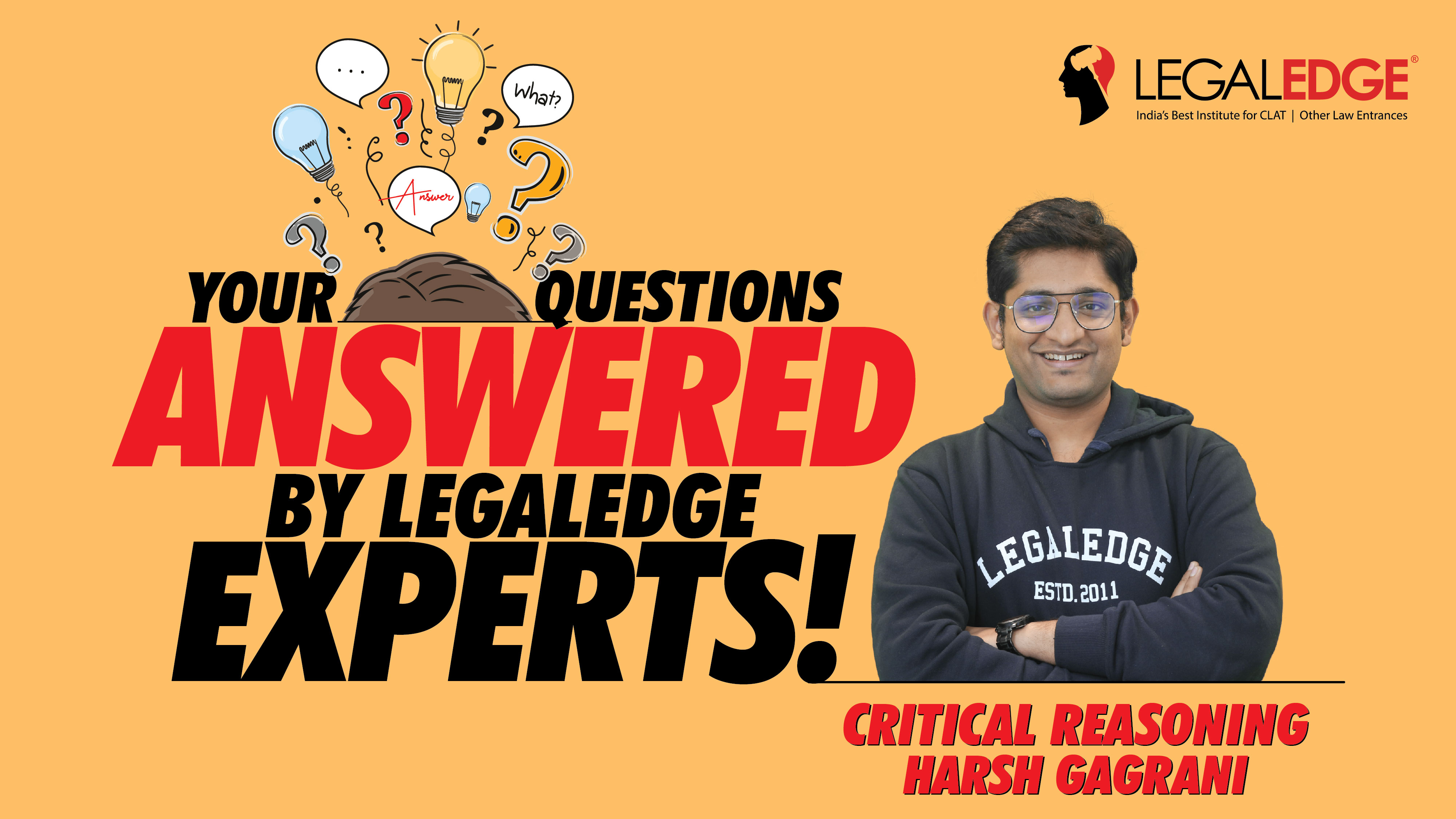 Your Questions Answered ! | Critical Reasoning | By Harsh Sir